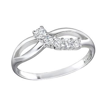 Infinity - 925 Sterling Silber jeweled Ringe - W15058X
