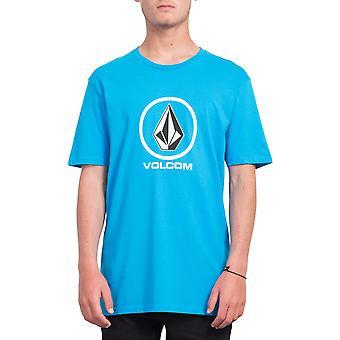 Volcom mäns T-Shirt ~ skarpa sten cyan