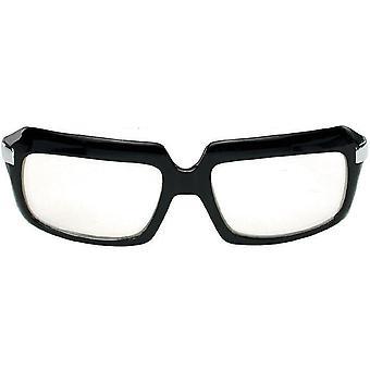 Glasses 80's Scratcher Blk Clr - 15343