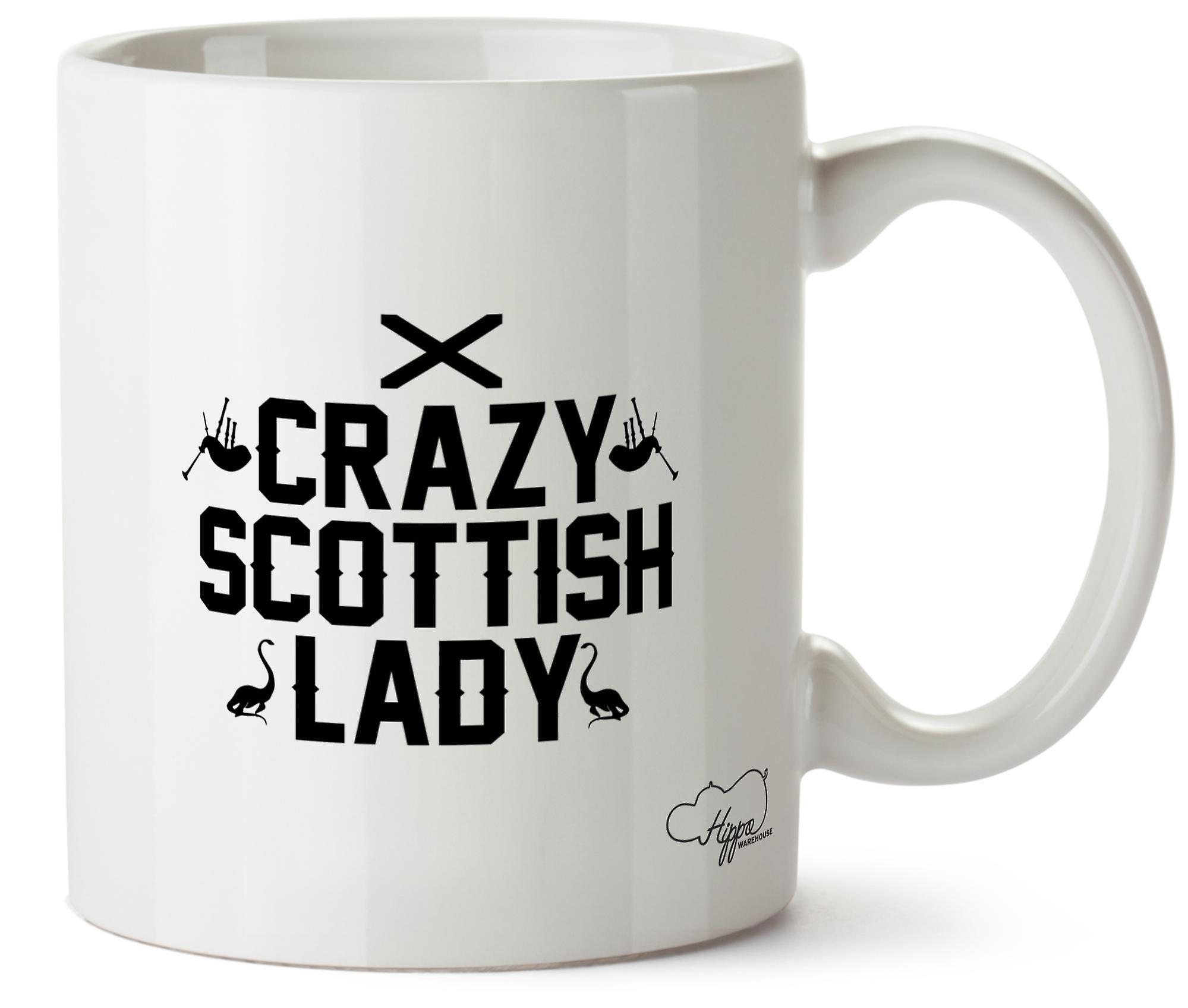 Hippowarehouse ума шотландский дама напечатаны Кубка керамическая кружка 10oz