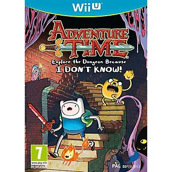 Adventure Time Explore the Dungeon Because I dont know (Nintendo Wii U) - New