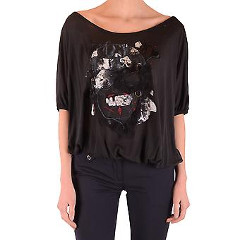 John Galliano Ezbc164001 Women's Black Cotton Sweater