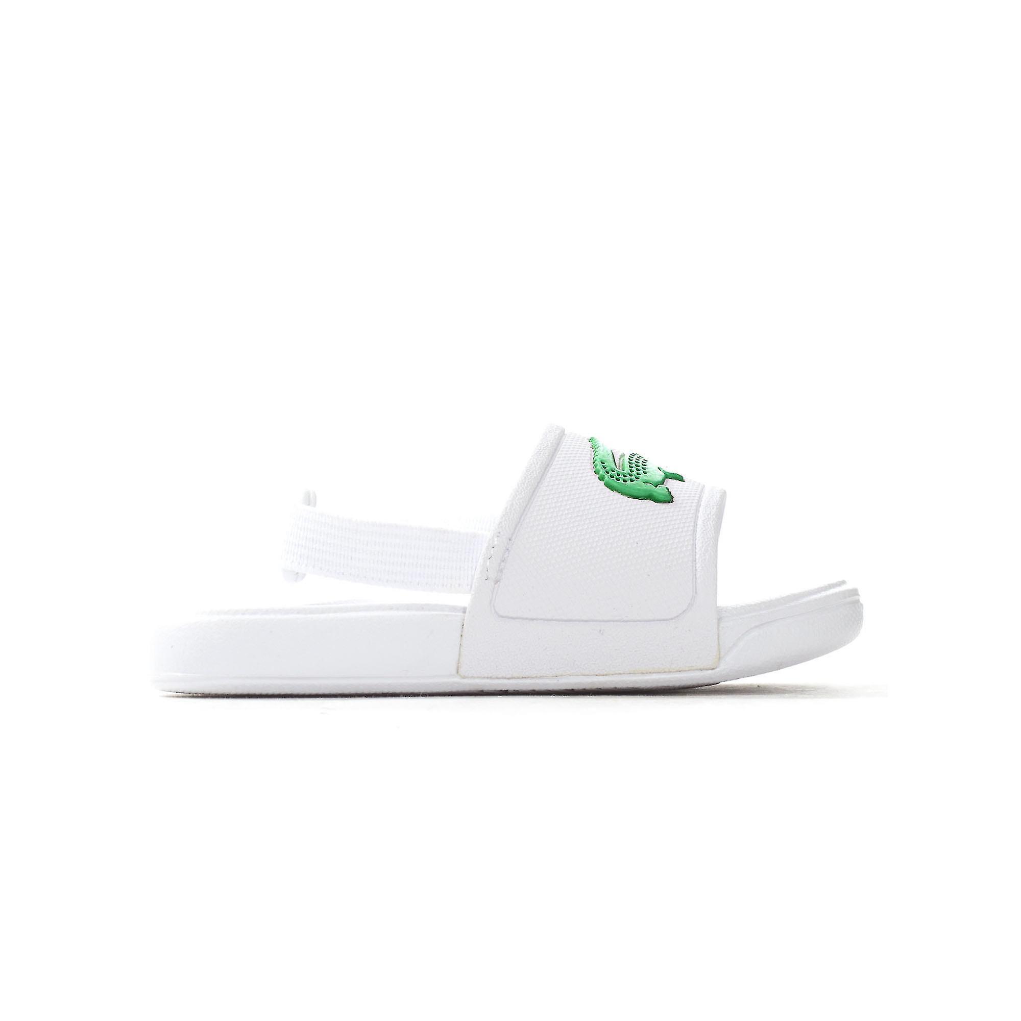 Lacoste L.30 Infant Kids Summer Flip Flop Slide White/Green