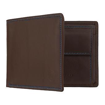 ミゲル・ BELLIDO RFID チップ保護付きメンズ財布財布財布ブラウン7971