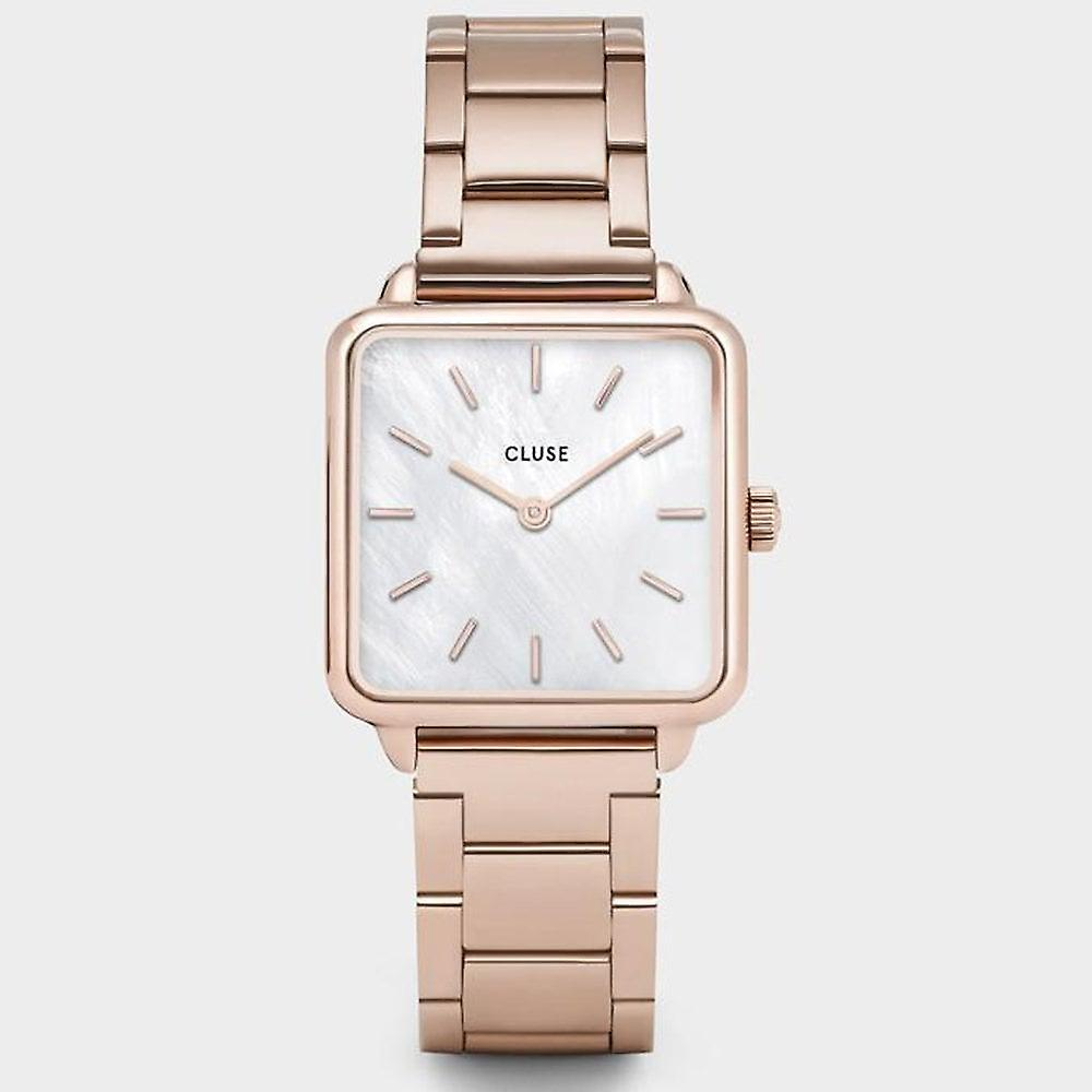 Cluse Cl60027s La Tetragone Three Link Rose Gold & White Pearl Stainless Steel Ladies Watch