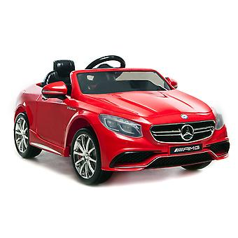 Licensed Mercedes-Benz 63 AMG 6V Twin Motor Ride on Car Red