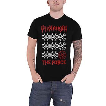 Onslaught T Shirt The Force Band Logo thrash metal new Official Mens Black
