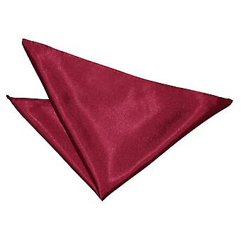 Burgundy Plain Satin Pocket Square