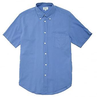 Hartford lichtgewicht kledingstuk geverfd katoenen shirt, blauw