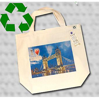 London tower bridge tote bag eco recycled