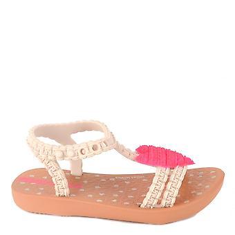 伊帕内玛婴儿我的第一心粉红谭凉鞋