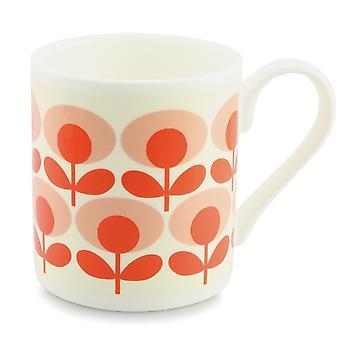 Orla Kiely Flower Oval Tomato Mug