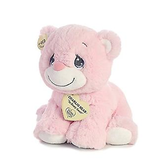 Aurora World Precious Moments Charlie Bear With Rattle So Beary Sweet Plush, Pink, 8.5