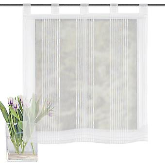 Home Living ideas Raffrollo Gera transparent with loops wool white H/W 140x80 cm