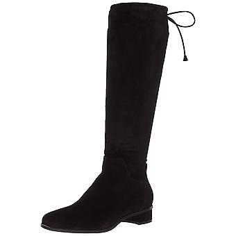 Aquatalia Women's Lisandra Suede Over The Over The Knee Boot, Black, 8 M US