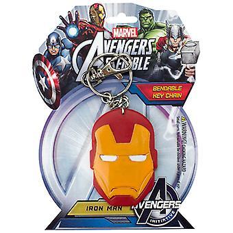Key Chain - Marvel - Iron Man's Helmet Bendable New Toys Licensed krb-4618