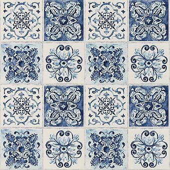 Rasch Floral tegel patroon behang keuken badkamer blad motief reliëf 885309
