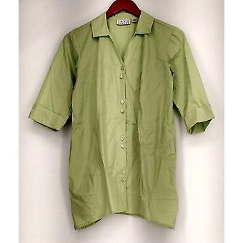 Joan Rivers Classics Collection Top XXS namorado assimétrico hem verde A275355