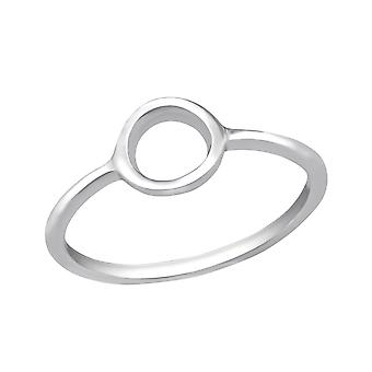 Circle - 925 Sterling Silver Plain Rings - W30513x
