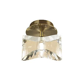 Mantra Kromo Ceiling 1 Light G9, Antique Brass