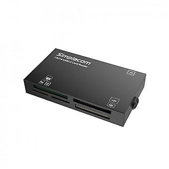 CR216 USB 2.0 الكل في قارئ بطاقة ذاكرة واحدة 6 فتحة