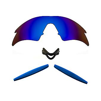 Polarized Replacement Lenses Kit for Oakley M Frame Sweep Blue Mirror Blue Anti-Scratch Anti-Glare UV400 by SeekOptics