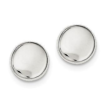 925 Sterling Silber poliert Button Post Ohrringe Schmuck Geschenke für Frauen - 2,3 Gramm