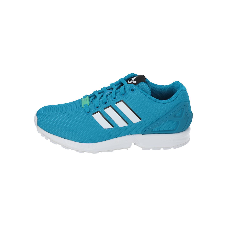 adidas Originals ZX FLUX Herren Damen Sneakers Turn Schuhe Blau Türkis NEU OVP