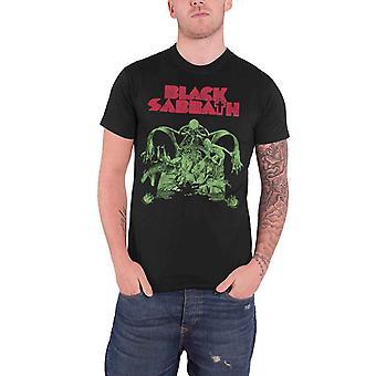 الأسود يوم السبت T قميص الدموية السبت انقطاع الفرقة الشعار الرسمي الأسود رجالي