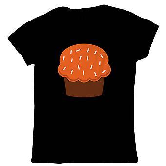 Pompoen cupcake Womens T-shirt | Halloween fancy dress kostuum Trick or Treat | Hallows Eve Ghost pompoen heks truc traktatie Spooky | Halloween gift haar moeder