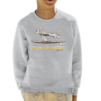 Popeye Push Yer Limits Surf Kid's Sweatshirt