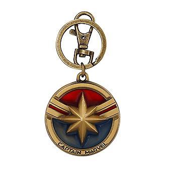 Metal Key Chain - Marvel - Captain Marvel Logo Colored New 69007