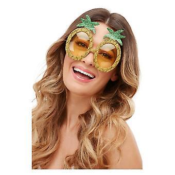 Tropiska ananas glitter glasögon
