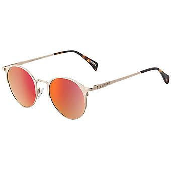 Dirty Dog Howl Mirror Sunglasses - Gold/Red