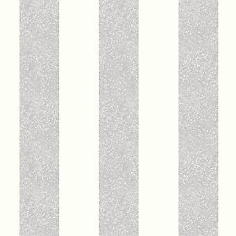 Glitterati Stripe Glitter Wallpaper Platinum Arthouse 892503