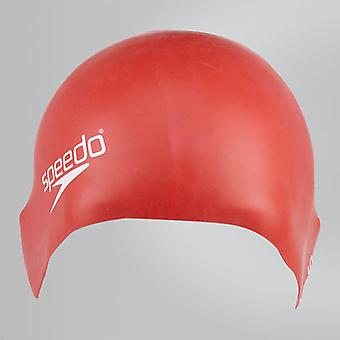 Speedo Junior Plain Moulé Silicone Hydrodynamic Durable Maillot de Bain Durable - Rouge