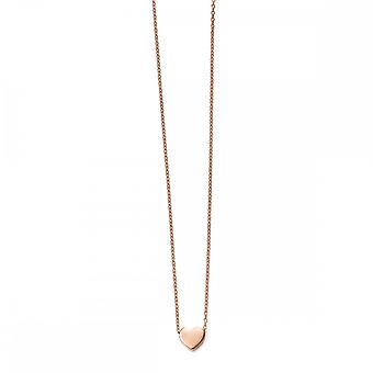 Elements Gold Elements 9ct Rose Gold Heart Charm Necklace GN235