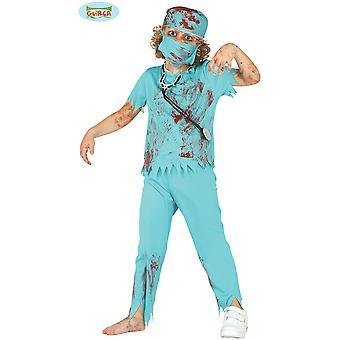 Dziecięce stroje karnawalowe Zombie chirurg kostium na Halloween