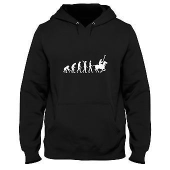 Black men's hoodie dec0114 evolution polo