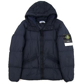 Stone Island 40223 Garment Dyed Crinkle Reps Ny Down Jacket Navy V0020
