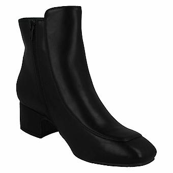 Spot On Womens/Ladies PU Mid Ankle Boots