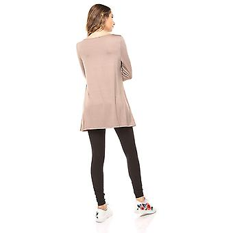 Free to Live Women's Flowy Elbow Sleeve Jersey Tunic Blouse Top Made in USA (...