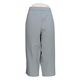 H di Halston Women's Petite Pants 20 Studio Stretch Pull-On Blue A286263