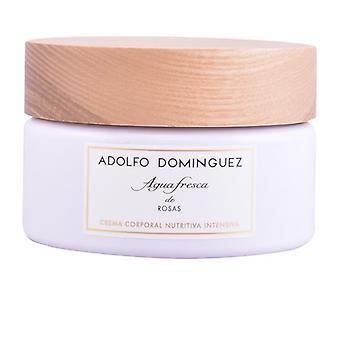Kosteuttava vartalo voide Agua Fresca de Rosas Adolfo Dominguez (300 g)