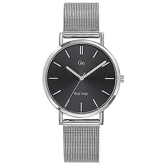 Watch Go Girl Only 695256 - Silver Steel Milanese Black Dial Women