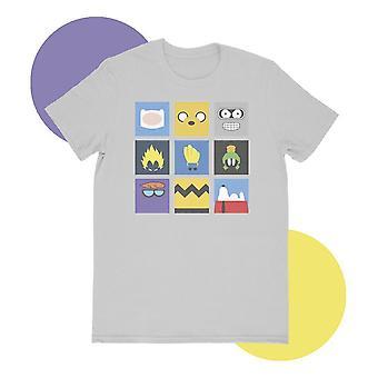 Minimilist cartoon gray t-shirt