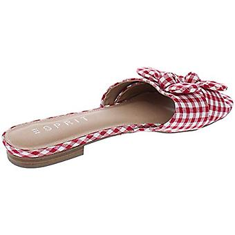 Esprit Womens Kenia Canvas Casual flache Sandalen rot 7 Medium (B, M)