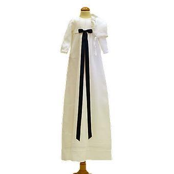 Dopklänning Grace Of Sweden, Mörk Blå Rosett Och Dophätta  Tr.v.l