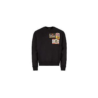 DSQUARED2 Cotton Embroided Logo Black Sweatshirt