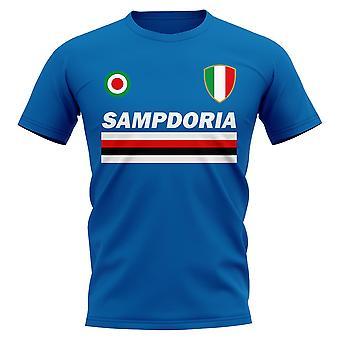 Sampdoria Vintage Voetbal T-shirt (Blauw)